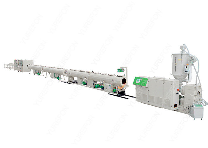 Precision Control Single Screw PE Pipe Production Line For HDPE Plastic Pipe Making