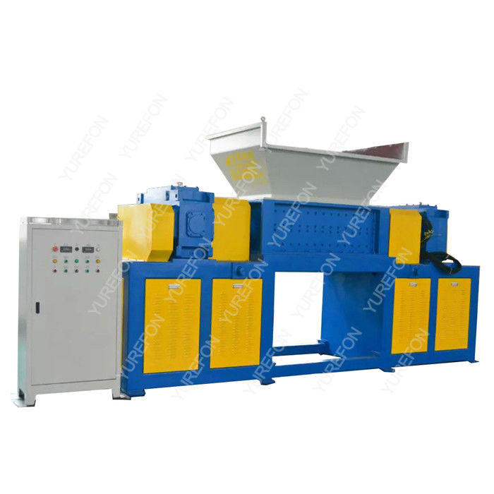 Cardboard Carton Paper Shredder Machine High Throughput Rate With Two Shaft