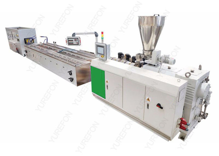 Double Screw Wpc Profile Extrusion Line 20 M Wood Plastic