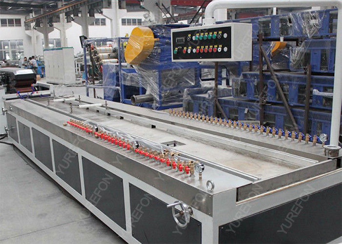 Wood Plastic Composite WPC Profile Extrusion Line Stable Running 20 M Twin Screw