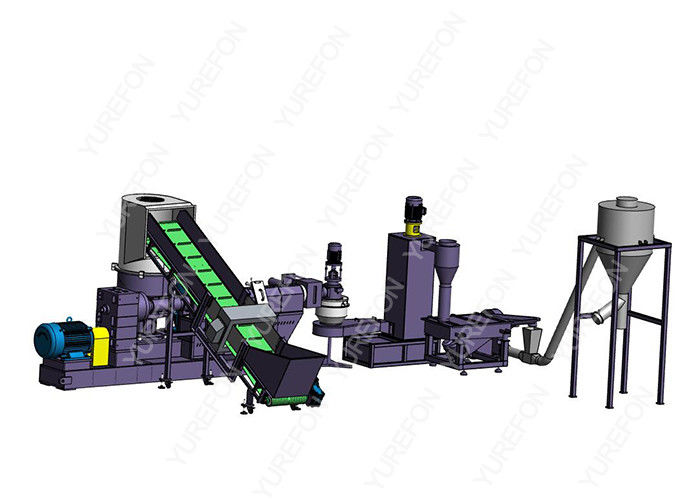 38CrMoAl Plastic Pelletizing Machine , Washed Plastic Granules Making Machine