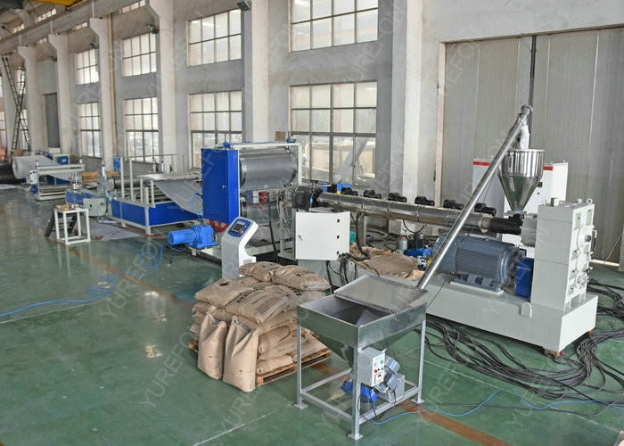 Non Woven Geotextile Dimpled Drainboard Production Machine