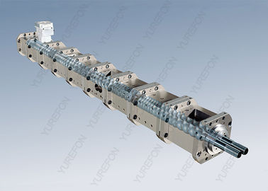 Co Rotating Parallel Twin Screw Plastic Extruder High Hardness For PET HDPE PP