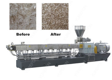 Twin Screw Plastic Recycling Granulator Machine 2.5 - 4 MM With Vacuum Exhaust