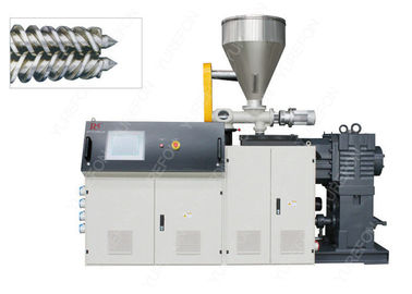 Conical Plastic PVC Pipe Extrusion Machine , PVC Profile Extrusion Line With Bimetal Screw