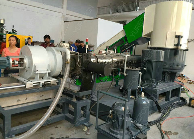 CE approved PE PP Film Bag Plastic Recycling Granulator Pelletizing Machine , Soft Plastic Granules Making Machine screw